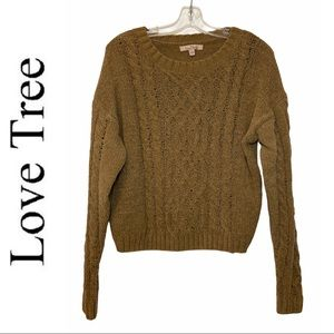 Love Tree Brown Cable Knit Sweater